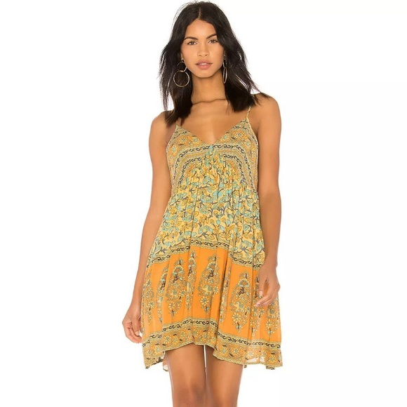 Spell & The Gypsy Collective Dresses & Skirts - ISO Spell Delirium Mini strappy dress gold XL